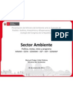 Presentacion de Manuel Pulgar - Vidal ante el Congreso de la República (30/01/12)