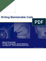 Writing Maintainable Code