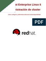 Red Hat Enterprise Linux 6 Cluster Administration Es ES