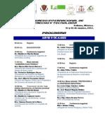 Programa II Congreso Internacio nal de Derecho y Tecnología