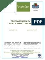 TRANSMISIBILIDAD DE APORTACIONES COOPERATIVAS (Es) - TRANSMISSIBILITY OF CO-OPERATIVE SHARES (Es) . KOOPERATIBEN EKARPENEN ESKUALDAGARRITASUNA (Es)