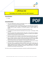 LTE (Long Term Evolution) From a-Z