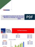 Lineamientos política Hab. Jesus Vidalon. 2008