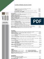 vino menu
