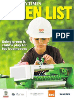 Sunday Times 2010 Best Green Companies