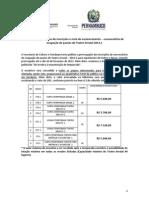 PRORROGAÇÃO E NOTA DE ESCLARECIMENTO Teatro Arraial -2012.1 Convocatória Ocupação de Pautas