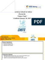 Future Chef Recipe Book, 2012