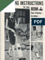 Regina Floor Polisher Scrubber Rug Shampooer