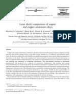 Matthew S. Schneider et al- Laser shock compression of copper and copper–aluminum alloys