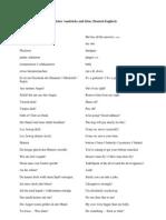 Sammlung umgangssprachlicher Ausdrücke und Sätze (Deutsch-Englisch)