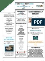 Newsletter 1-27-2012