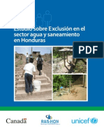 Estudio Exclusion Sector Agua to Honduras