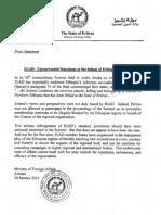 Eritrea Press Statement 30 January12