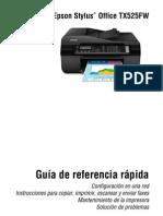 Manual Impresora Epson Tx525fw
