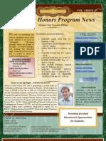 January 30 Honors Newsletter
