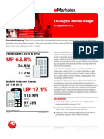 eMarketer US Digital Media Usage-A Snapshot of 2012
