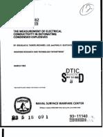 Douglas G. Tasker, Richard J. Lee and Paul K. Gustavson-The Measurement of Electrical Conductivity in Detonatiing Condensed Explosives