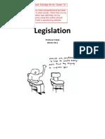 Legislation Exam Outline