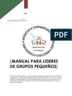 MANUAL PARA LIDERES DE GRUPOS  PEQUEÑOS