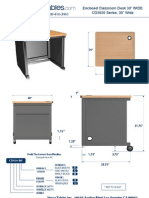 Enclosed Classroom Desk (CD30 Series) Technical Drawing