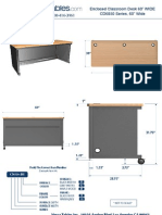 Enclosed Classroom Desk (CD60 Series) Technical Drawing