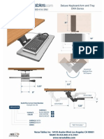Deluxe Keyboard Arm (DKA Series) Technical Drawing