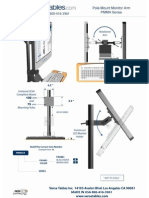 Pole Mount  Monitor Arm (PMMA Series) Technical Drawing