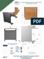 Split Level Classroom Desk (SD30 Series) Technical Drawing