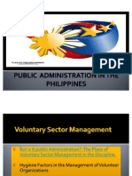 Voluntary Sector Mgt