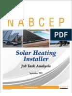 NABCEP SH Installer JTA Final 9-28-11