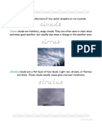 Three Types of Clouds - Elementary Worksheets