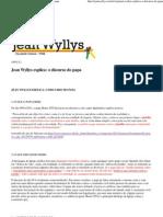 (Jean Wyllys » Jean Wyllys explica_ o discurso do papa)