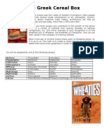 Wheaties Project