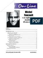 Michael Foucault e as Urgências Da Atualidade 20 Anos Depois