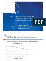 EU-Russia Gas Relations a View From Both Sides