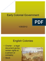 Early Colonial Government