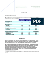 Pershing Square Q3 2008 Investor Letter