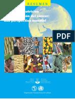 Alimentos nutrición y prevención de cáncer