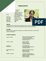 Curriculum Vitae Lucía Cabrera 01-2012