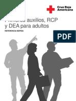 Primeros Auxilios Rcp y Dea Para Adulto