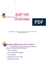SAP HR Overview 58 Slides