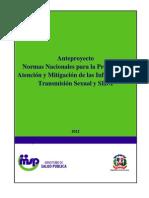 Norma ITS VIH SIDA 2012 Anteproyecto