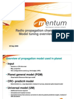 Radio Channel Model Tuning Mentum