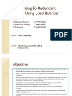 Forwarding to Redundant Server Using Load Balancer 97-03