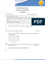 Maths Sample Paer 2