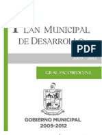 General Escobedo - Plan Municipal de Desarrollo 2009-2012