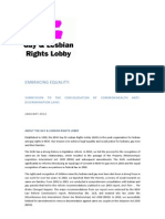 NSW Gay and Lesbian Rights Lobby - Submission to the Consolidation of Commonwealth Anti-Discrimination Laws