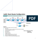 LabS2 Basic Router Configuration