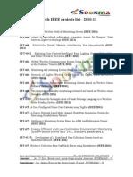 M-Tech Embedded IEEE 2011 Projects List