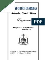 BCM Assembly Programme 2012